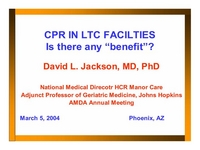 CPR in LTC:  Is There an Affirmative Duty to Provide?