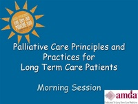 Palliative Care Part I<br /><span style=