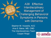 Effective Interdisciplinary Management of Challenging Behavioral Symptoms in Persons with Dementia