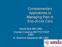 Complementary Approaches to Managing Pain in End-of-Life Care