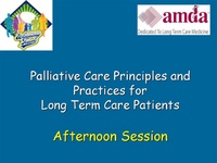 Palliative Care Part II: Clinical and Organizational Considerations