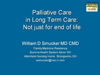 Palliative Care in Long Term Care