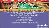 When is Quality Improvement (QI), Research? A Training Program on Team QI Activities in Your Nursing Facility