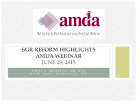 AMDA to Hold Open Policy Forum on Payment Reform