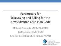 Parameters for Discussing and Billing for the New Advance Care Plan Code