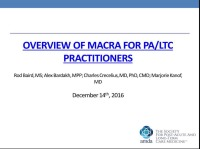 Overview of MACRA for PA/LTC Practitioners