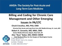 Billing and Coding for Chronic Care Management and Other Emerging Issues in PA/LTC