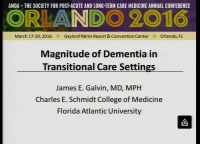 The Dementia Factor in Reducing Hospital Admissions and 30-Day Readmissions