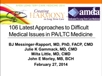 Latest Approaches to Difficult Medical Issues in Long-Term Care