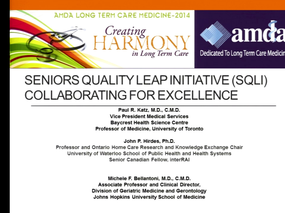 Seniors Quality Leap Initiative Trans Continental Collaboration To
