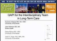 Developing the Skills for Quality Assurance and Performance Improvement in Long-Term Care