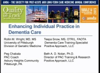 A Positive & Proactive Approach to Supporting Older Adults Living with Brain Ability Changes: Enhancing Individual Practice in Dementia Care - <span style='color:red;'>CME/CMD credits not available for this session</span>