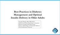 Update on Best Practices in Managing Diabetes in Older Adults
