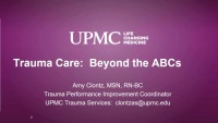 Trauma Care Beyond the ABCs