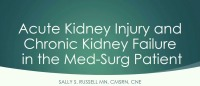 Acute Kidney Failure and Chronic Kidney Disease in the Med-Surg Patient