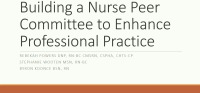 Building a Nurse Peer Review Committee to Enhance Professional Practice