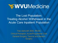 The Lost Population: Treating Alcohol Withdrawal in the Acute Care Inpatient Population
