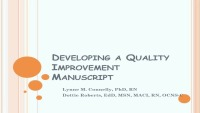 Developing a Quality Improvement Project Manuscript