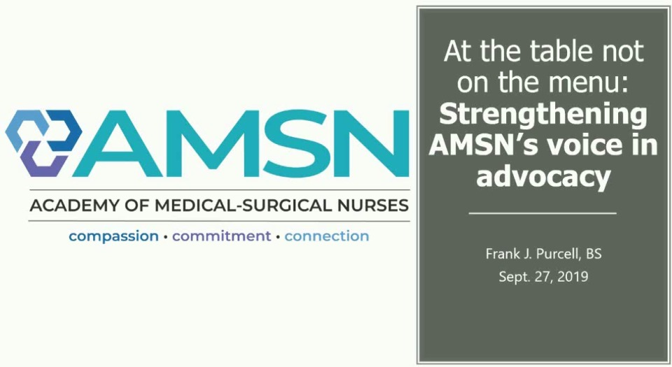 At the Table, Not on the Menu: Strengthening AMSN's Voice in Advocacy