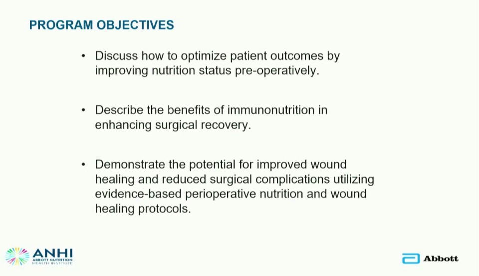 The Importance of Perioperative Nutrition in Wound Healing