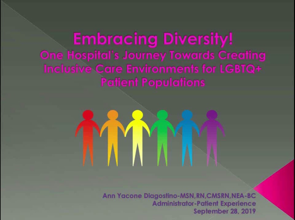 Embracing Diversity! One Hospital's Journey Towards Creating Inclusive Care Environments for LGBTQ+ Patient Populations