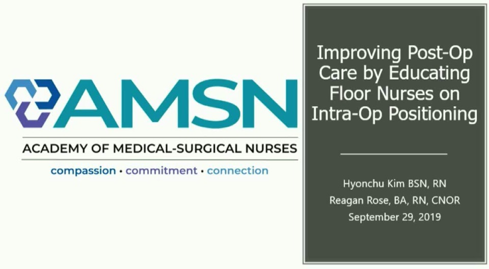 Improving Post-Op Care by Educating Clinical Nurses on Intra-Op Positioning