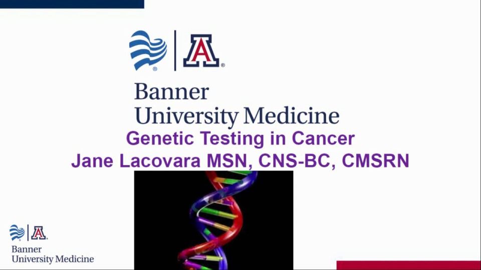 Genetic Testing in Cancer Patients for the Medical-Surgical Nurse