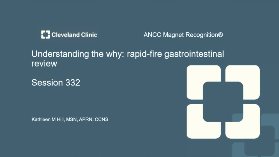 Understanding the Why: Rapid-Fire Gastrointestinal Review