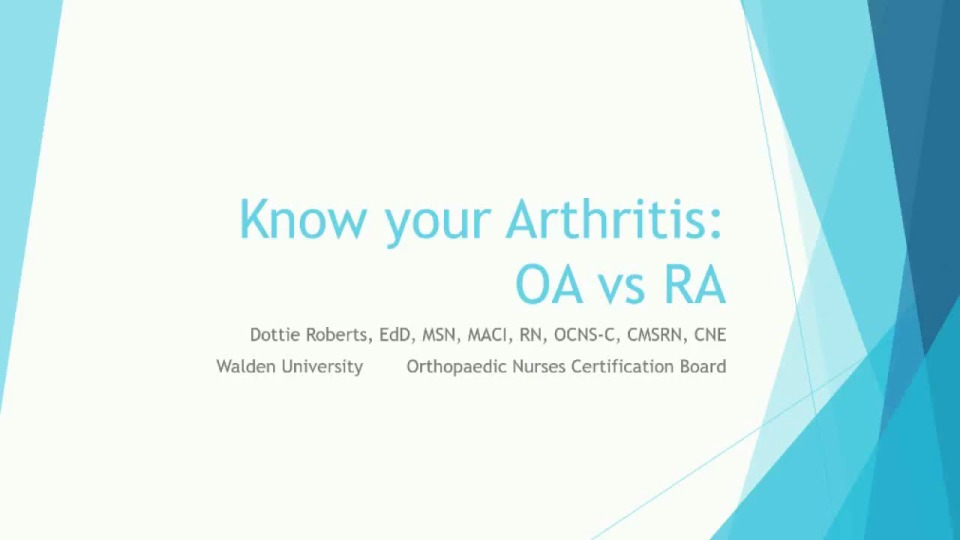 Know Your Arthritis: OA vs. RA