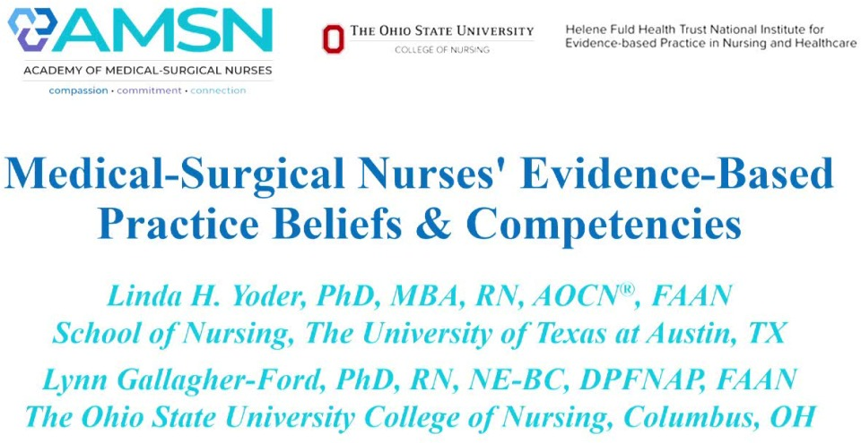 Medical-Surgical Nurses' Evidence-Based Practice Beliefs and Competencies