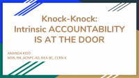 Knock-Knock:  Intrinsic Accountability is at the Door