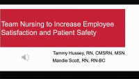 Team Nursing to Increase Employee Satisfaction and Patient Safety