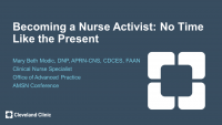 Becoming a Nurse Activist - No Time Like the Present