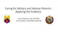 Caring for Military and Veteran Patients: Applying the Evidence