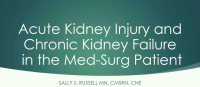 Acute Kidney Injury and Chronic Kidney Failure in the Med-Surg Patient