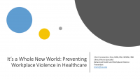 It's A Whole New World: Preventing Workplace Violence in Health Care