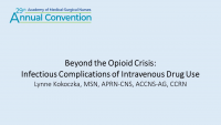 Beyond the Opioid Crisis: Infectious Complications of Intravenous Drug Use