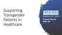 Supporting Transgender Patients in Health Care