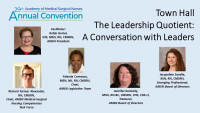 AMSN PRISM Award ///Town Hall - The Leadership Quotient: A Conversation with Leaders