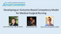 CMSRN of Distinction Award /// Developing an Outcome-Based Competency Model for Medical-Surgical Nursing