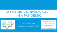 Medtronic Welcome /// Managing Nursing Care in a Pandemic
