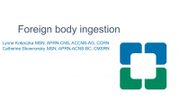 Management of Intentional Foreign Body Ingestion in Adults