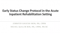 Interventions for Early Status Changes