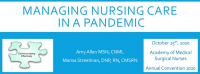 Managing Nursing Care in a Pandemic