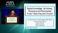 """Opioid Knowledge: Do Nurses, Physicians and Pharmacists """"Know"""" What They Don't Know?"""