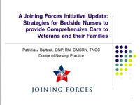 A Joining Forces Initiative Update: Strategies for Bedside Nurses to Provide Comprehensive Care to Veterans and Their Families
