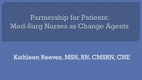 Partnership for Patients: Med-Surg Nurses at the Bedside as Change Agents