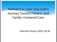 Partners in Care: One Unit's Journey toward Patient- and Family-Centered Care