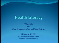 Health Literacy: What It Is and What It Means to You and Your Patients