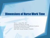 Dimensions of Nurse Work Time